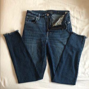 Bridgette Raw Hem Skinny Jeans